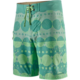 "Patagonia Stretch Planing Boardshorts 19"" Men, woodblock circles big/light beryl green"